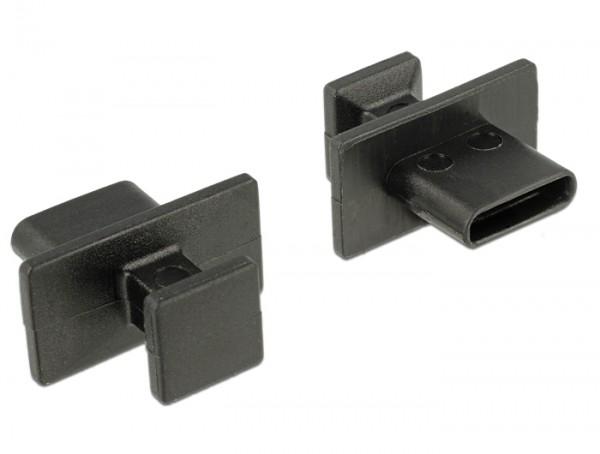 Staubschutz für USB Type-C Buchse mit großem Griff 10 Stück schwarz