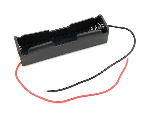 Batteriehalter für 1x 18650 mit Anschlusskabel