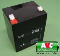CTM CT5-12L wartungsfreier AGM-Bleiakku 12V / 5Ah Fast-on 6,3mm