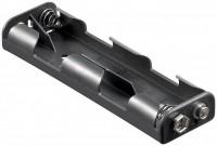 Batteriehalter für 4x Mignon AA 2+2 mit Druckknopfanschluss