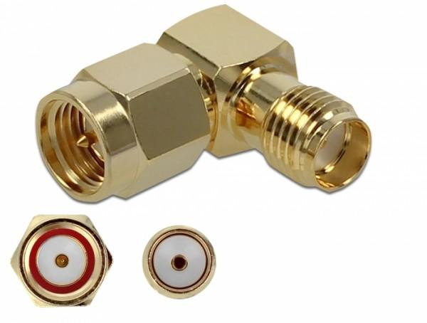 Adapter SMA Stecker zu SMA Buchse 90° 10 GHz