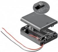 Batteriehalter für 3x Mignon AA mit 150mm Anschlusskabel und geschlossenem Gehäuse