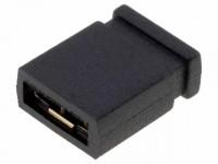 Jumper, kurze Ausführung, geschlossen, RM 2,54mm, schwarz