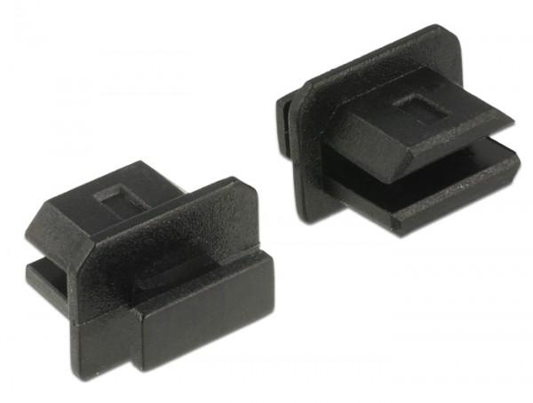 Staubschutz für mini Displayport Buchse mit Griff 10 Stück schwarz