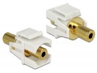 Keystone Klinke 3,5mm Buchse > Buchse vergoldet