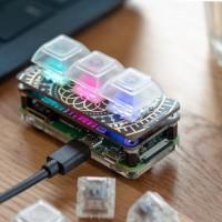 Keybow MINI (3-Tasten) mechanisches (leises) Keypad für Makros
