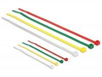 Kabelbinder, 100 x 2,5mm + 200 x 3,6mm, farbig, 200 Stück