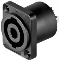 PA-Lautsprecher Einbaukupplung, Speakon® kompatibel, 4-pol., Lötmontage