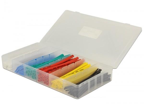 Schrumpfschlauch Sortiment 100-teilig farbig in Kunststoffbox