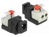Adapter DC 5,5 x 2,1 mm Buchse - Terminalblock mit Drucktasten 2 Pin