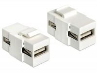 Keystone USB2.0 A Buchse > USB2.0 A Buchse weiß
