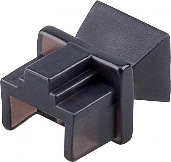 Staubschutz für RJ45 Buchse, schwarz, 10 Stück