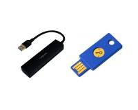 Yubico YubiKey Security Key NFC + 4 Port USB 2.0 Hub Bundle