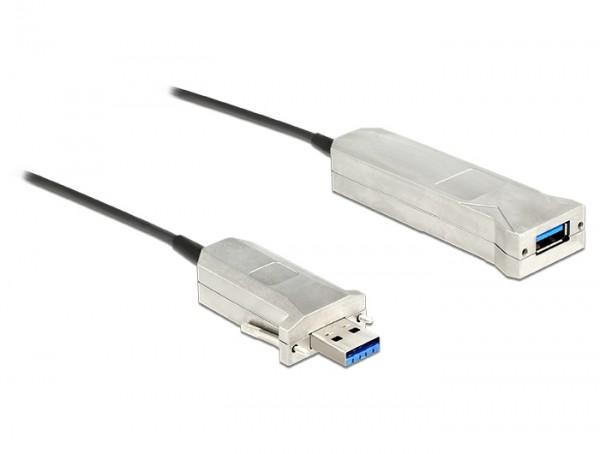 USB 3.0 SuperSpeed Aktives Optisches Verlängerungskabel A Stecker – A Buchse schwarz