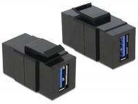 Keystone USB3.0 A Buchse > USB3.0 A Buchse schwarz