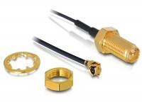 Antennenkabel RP-SMA Buchse zum Einbau - MHF/U.FL kompatibler Stecker 500 mm