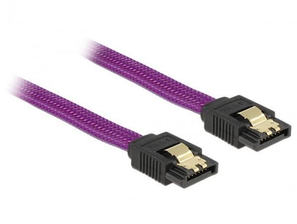 S-ATA Premium Kabel 1.5GBits / 3GBits / 6GBits violett