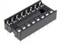 IC-Sockel, 16-polig, RM:2,54mm, THT