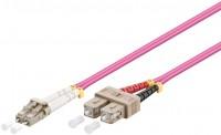 LWL Kabel Multimode OM4, LC-Stecker (UPC) > SC-Stecker (UPC), violett