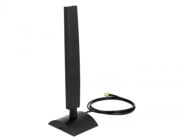 WLAN Antenne 802.11 ac/a/h/b/g/n RP-SMA 4 ~ 6 dBi omnidirektional mit mag. Standfuß & Kippgelenk