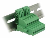 Terminalblock Set für Hutschienen 6 Pin mit Schraubverriegelung