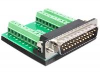 Adapter Sub-D 25 Pin Stecker - Terminalblock 27 Pin