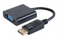 DisplayPort 1.1 Adapterkabel, DisplayPort Stecker - VGA-Buchse, 1080p 60Hz, 15cm, schwarz