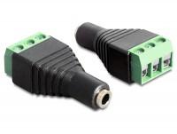 Adapter Terminalblock - Klinkenbuchse 3,5mm 3 Pin