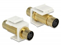 Keystone Mini-DIN 4 Pin (S-Video) Buchse > Buchse vergoldet