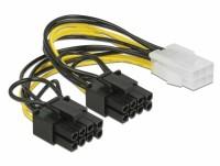 Kabel PCI Express Stromversorgung 6 Pin Buchse > 2 x 8 Pin Stecker 15cm