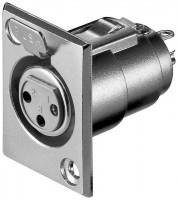 XLR-Einbaubuchse, 3 Pin, mit Verriegelung