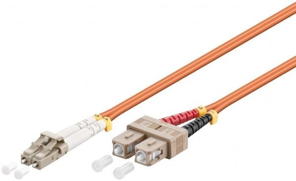 LWL Kabel Multimode OM2, LC-Stecker (UPC) > SC-Stecker (UPC), orange