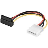 Power Adapter 4-pol. 5.25-Powerstecker - 15-pol. S-ATA Stecker 90° gewinkelt