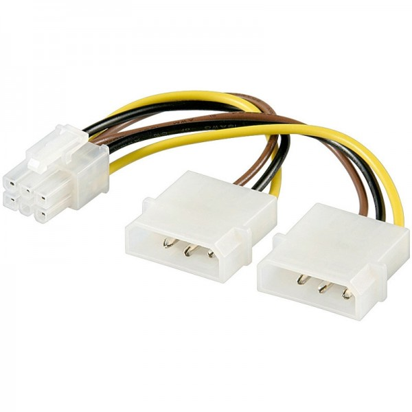 Power Kabel 2x 5.25 Stecker - PCI Express 6 pin