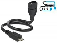 Shape USB 2.0 Hi-Speed OTG Adapterkabel Micro B Stecker – Standard A Buchse schwarz