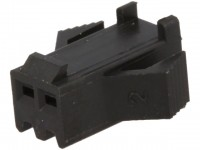 Steckverbinder Gehäuse kompatibel zu JST SMP-02V-BC, weiblich, 2 Pin, schwarz