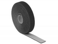 Kabelbinder, Klettverschluss L 5 m x B 20 mm Rolle schwarz