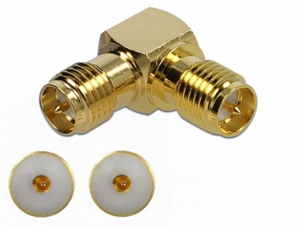 Adapter RP-SMA Buchse zu RP-SMA Buchse 90° 10 GHz