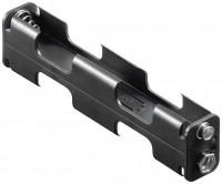 Batteriehalter für 4x Mignon AA 2x2 mit Druckknopfanschluss