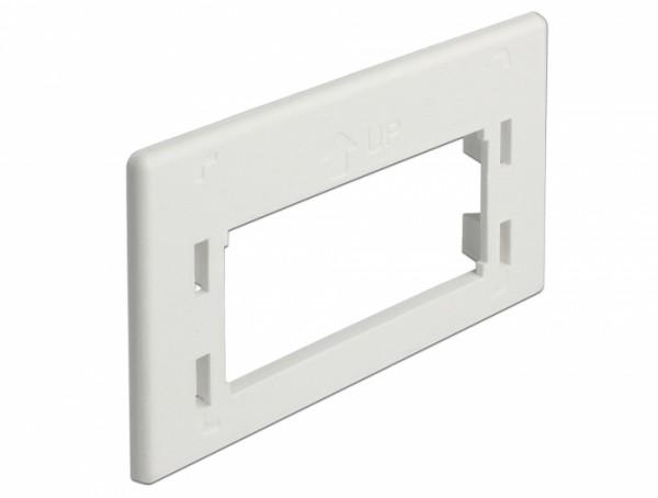 Keystone Adapterplatte für Möbeleinbaudosen, weiß