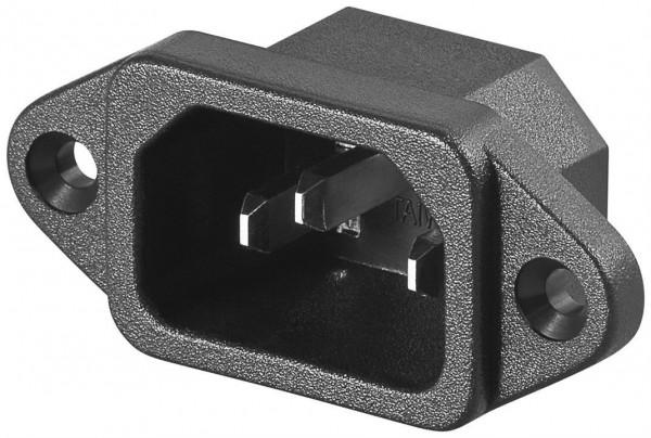 AC-Einbaustecker C14 - Lötanschluss