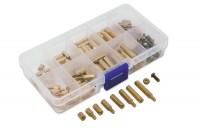 120-teiliges Abstandshalter Sortiment in Kunststoffbox, Größe: M3,0