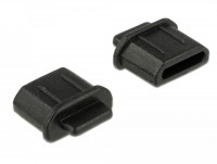 Staubschutz für HDMI micro-D Buchse mit Griff 10 Stück schwarz