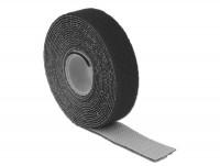 Kabelbinder, Klettverschluss L 3 m x B 20 mm Rolle schwarz